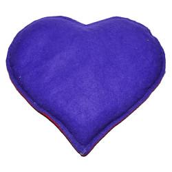 Kalp Desenli Doğal Kaya Tuzu Yastığı Mor - Kırmızı 2-3 Kg - Thumbnail
