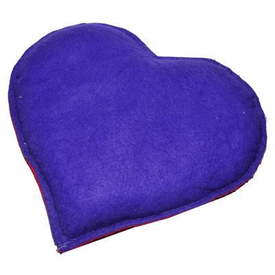 Kalp Desenli Doğal Kaya Tuzu Yastığı Mor - Kırmızı 2-3 Kg
