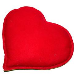 Kalp Desenli Doğal Kaya Tuzu Yastığı Sarı - Kırmızı 2-3 Kg - Thumbnail