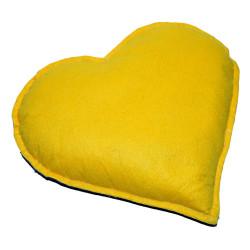 LokmanAVM - Kalp Desenli Doğal Kaya Tuzu Yastığı Sarı - Lacivert 2-3 Kg Görseli