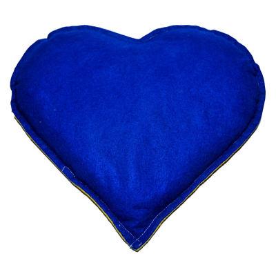 Kalp Desenli Doğal Kaya Tuzu Yastığı Sarı - Lacivert 2-3 Kg