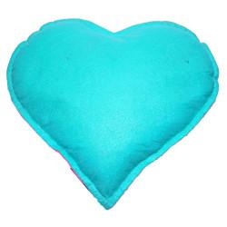 Kalp Desenli Doğal Kaya Tuzu Yastığı Yeşil - Pembe 2-3 Kg - Thumbnail