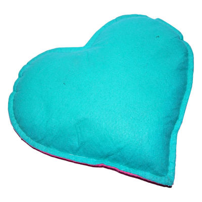 Kalp Desenli Doğal Kaya Tuzu Yastığı Yeşil - Pembe 2-3 Kg