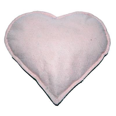 Kalp Desenli Doğal Kaya Tuzu Yastığı Yeşil - Pudra 2-3 Kg