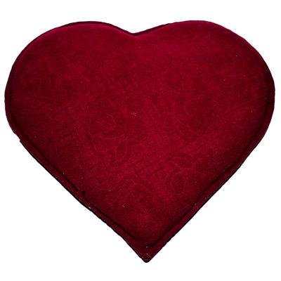 Kalp Desenli Gül Kabartmalı Doğal Kaya Tuzu Yastığı Kırmızı 2-3 Kg
