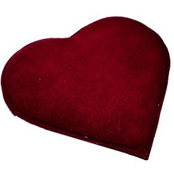 LokmanAVM - Kalp Desenli Gül Kabartmalı Doğal Kaya Tuzu Yastığı Kırmızı 2-3 Kg Görseli