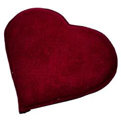 Kalp Desenli Gül Kabartmalı Doğal Kaya Tuzu Yastığı Kırmızı 2-3 Kg - Thumbnail
