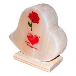 LokmanAVM - Kalp Desenli Gül Kalp Logolu Kaya Tuzu Lambası 2-3Kg Görseli