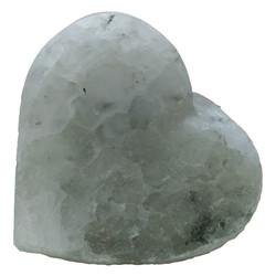 LokmanAVM - Kalp Şekilli Çankırı Doğal Kaya Tuzu Sabunu Beyaz 350-450 Gr Görseli