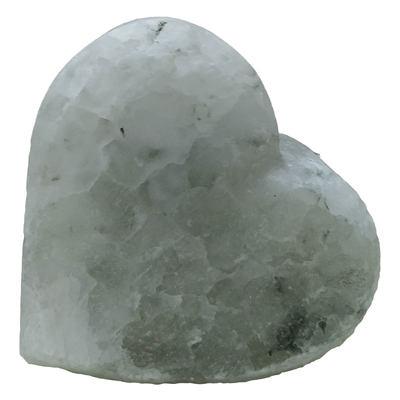 Kalp Şekilli Çankırı Doğal Kaya Tuzu Sabunu Beyaz 350-450 Gr