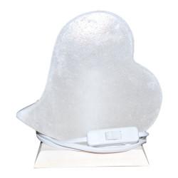 Kalp Şekilli Doğal Kaya Tuzu Lambası Çankırı Kablolu Ampullü Beyaz 1-2 Kg - Thumbnail