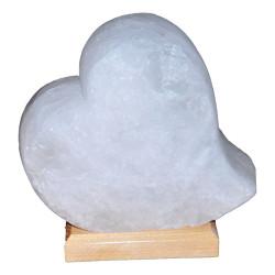 LokmanAVM - Kalp Şekilli Doğal Kaya Tuzu Lambası Çankırı Kablolu Ampullü Beyaz 2-3 Kg Görseli
