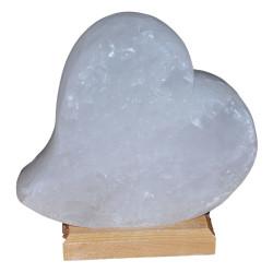 Kalp Şekilli Doğal Kaya Tuzu Lambası Çankırı Kablolu Ampullü Beyaz 2-3 Kg - Thumbnail