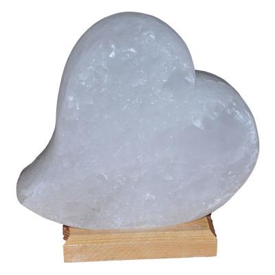Kalp Şekilli Doğal Kaya Tuzu Lambası Çankırı Kablolu Ampullü Beyaz 2-3 Kg