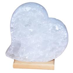 LokmanAVM - Kalp Şekilli Doğal Kaya Tuzu Lambası Çankırı Kablolu Ampullü Beyaz 3-4 Kg Görseli