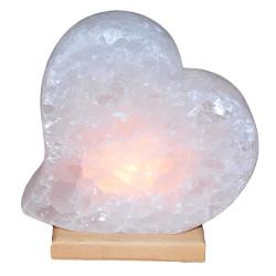 Kalp Şekilli Doğal Kaya Tuzu Lambası Çankırı Kablolu Ampullü Beyaz 3-4 Kg - Thumbnail