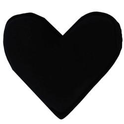 Kalp Şekilli Doğal Kaya Tuzu Yastığı Siyah 1-2 Kg - Thumbnail