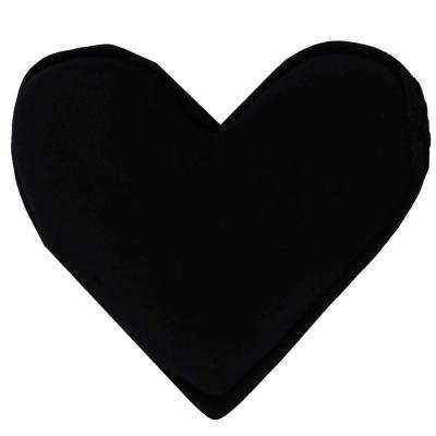 Kalp Şekilli Doğal Kaya Tuzu Yastığı Siyah 1-2 Kg