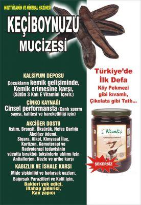 Keçiboynuzu Harnup Özü Cam Kavanoz 800 Gr