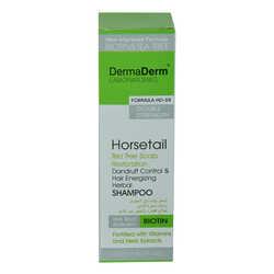 DermaDerm - Kepek Karşıtı At Kuyruğu Kırkkilit Otu Özü ve Vitaminli Mineralli Saç Güçlendirici Şampuan 250 ML Görseli