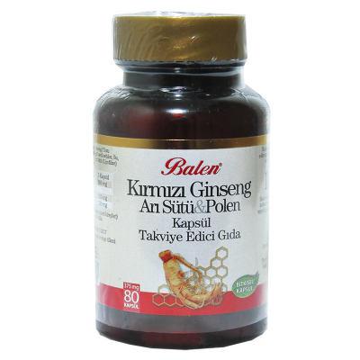 Kırmızı Ginseng & Arı Sütü & Polen 80 Kapsül