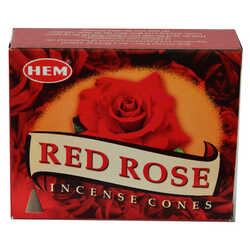 Kırmızı Gül Kokulu 10 Konik Tütsü - Red Rose - Thumbnail
