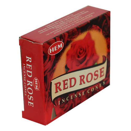 Kırmızı Gül Kokulu 10 Konik Tütsü - Red Rose