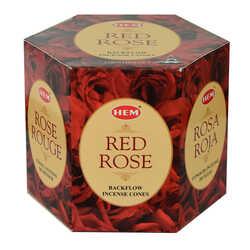 Kırmızı Gül Kokulu 40 Konik Tütsü - Red Rose - Thumbnail