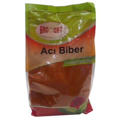 Kırmızı Toz Biber Acılı Renk Biberi 1000 Gr Paket