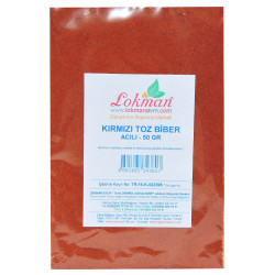 LokmanAVM - Kırmızı Toz Biber Acılı Renk Biberi 50 Gr Paket Görseli