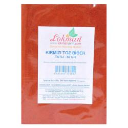 LokmanAVM - Kırmızı Toz Biber Tatlı Renk Biberi 50 Gr Paket Görseli