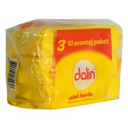 Dalin - Klasik Islak Havlu Yumuşak Petek Doku 3 lü Avantajlı Paket 168 Yaprak Görseli