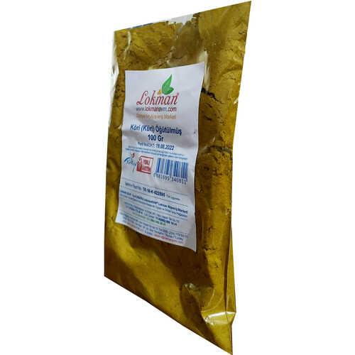 Köri Öğütülmüş Baharat Karışımı Küri Curry 100 Gr Paket