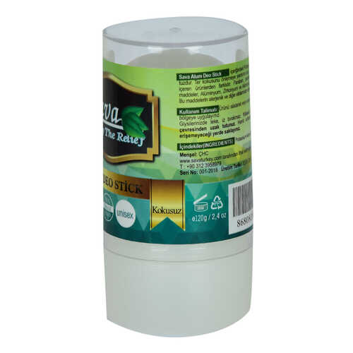 Kristal Doğal Tuz Roll-On Kokusuz Alum Deo Stick Unisex 120 Gr