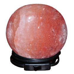 Küre Şekilli Doğal Himalaya Kaya Tuzu Lambası Kablolu Ampullü Pembe 3-4 Kg - Thumbnail