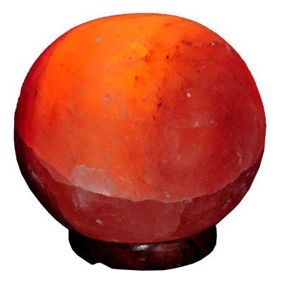 Küre Şekilli Doğal Himalaya Kaya Tuzu Lambası Kablolu Ampullü Pembe 3-4 Kg