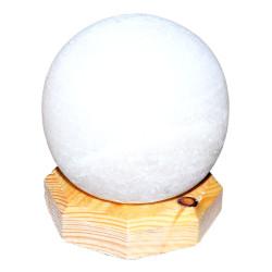 LokmanAVM - Küre Şekilli Doğal Kaya Tuzu Lambası Kablolu Ampullü Beyaz 1-2 Kg Görseli