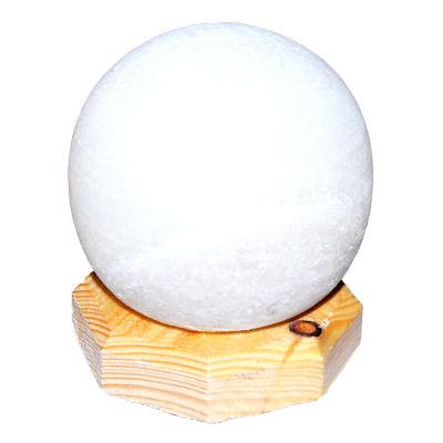 Küre Şekilli Doğal Kaya Tuzu Lambası Kablolu Ampullü Beyaz 1-2 Kg