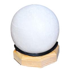 Küre Şekilli Doğal Kaya Tuzu Lambası Kablolu Ampullü Beyaz 1-2 Kg - Thumbnail