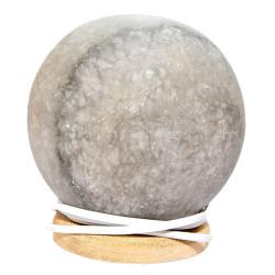 Küre Şekilli Doğal Kaya Tuzu Lambası Kablolu Ampullü Beyaz 2-3 Kg - Thumbnail