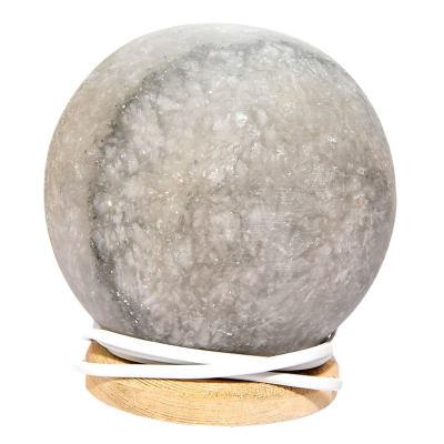 Küre Şekilli Doğal Kaya Tuzu Lambası Kablolu Ampullü Beyaz 2-3 Kg