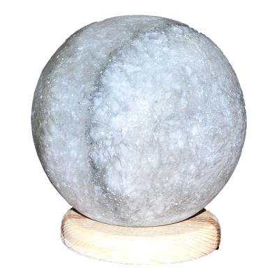 Küre Şekilli Doğal Kaya Tuzu Lambası Kablolu Ampullü Beyaz 3-4 Kg