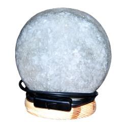 Küre Şekilli Doğal Kaya Tuzu Lambası Kablolu Ampullü Beyaz 3-4 Kg - Thumbnail