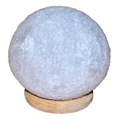 Küre Şekilli Doğal Kaya Tuzu Lambası Kablolu Ampullü Beyaz 4-5 Kg