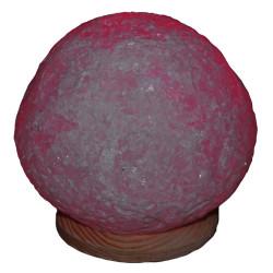 Küre Şekilli Doğal Kaya Tuzu Lambası Kablolu Ampullü Beyaz 4-5 Kg - Thumbnail