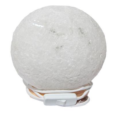 Küre Şekilli Doğal Kaya Tuzu Lambası Kablolu Ampullü Beyaz 5-6 Kg