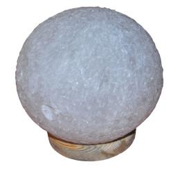 LokmanAVM - Küre Şekilli Doğal Kaya Tuzu Lambası Kablolu Ampullü Beyaz 6-7 Kg (1)