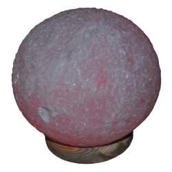 Küre Şekilli Doğal Kaya Tuzu Lambası Kablolu Ampullü Beyaz 6-7 Kg - Thumbnail