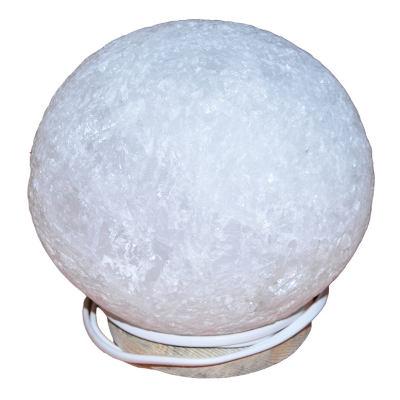 Küre Şekilli Doğal Kaya Tuzu Lambası Kablolu Ampullü Beyaz 6-7 Kg