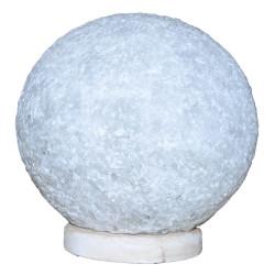 LokmanAVM - Küre Şekilli Doğal Kaya Tuzu Lambası Kablolu Ampullü Beyaz 7-8 Kg Görseli